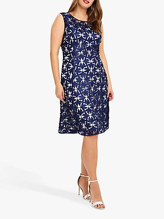 Studio 8 Lilah Lace Dress, Blue/Ivory