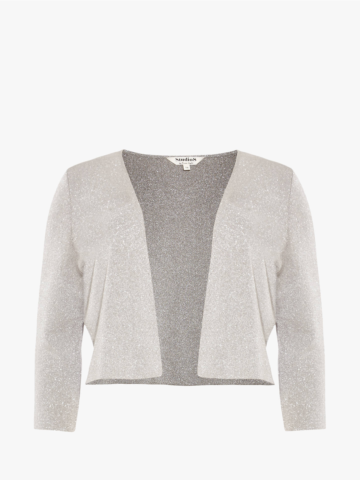 Buy Studio 8 Carrie Cover Up Knit Cardigan, Silver, 22 Online at johnlewis.com
