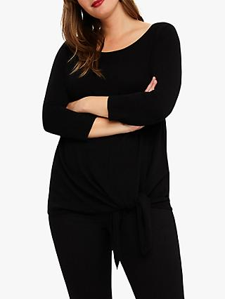 Studio 8 Caris Tie Knit Top, Black