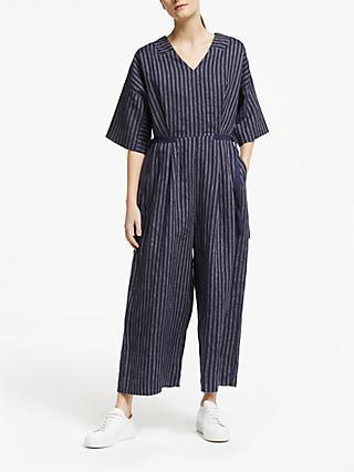 e5c9a663292 Kin Stripe Linen Jumpsuit