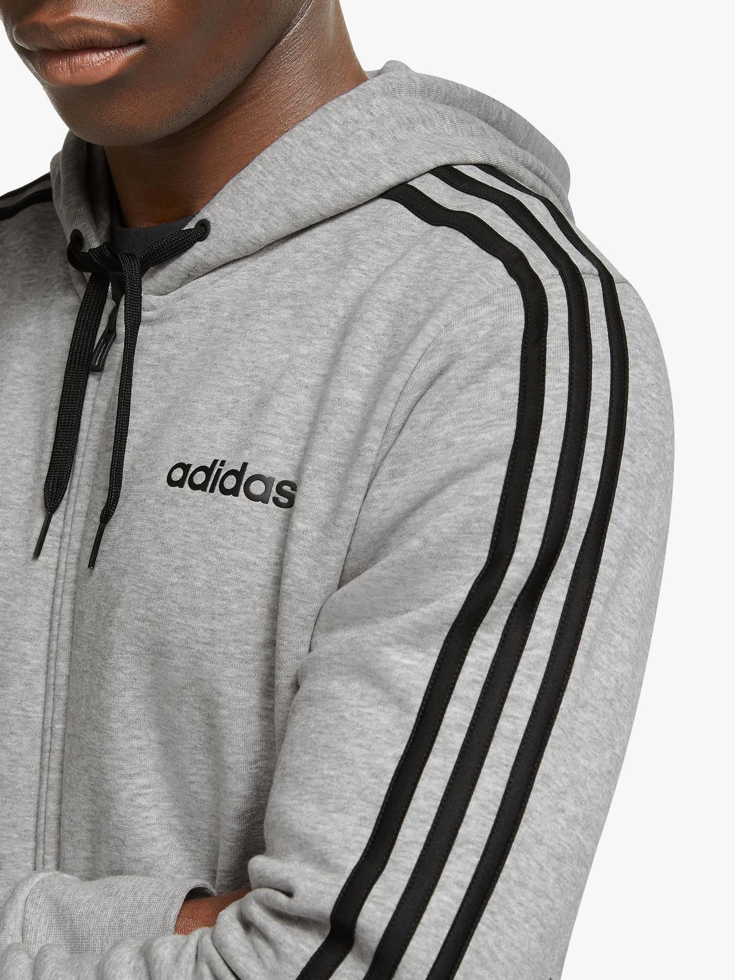 adidas LK Essentials 3 Stripes Full Zip Hoody adidas