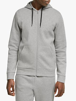 adidas Must Have Plain Full-Zip Hoodie, Medium Grey Heather