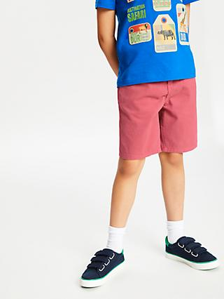 John Lewis & Partners Boys' Chino Shorts, Pink