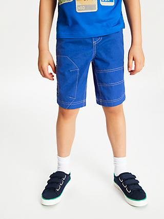 John Lewis & Partners Boys' Pull On Shorts, Bright Blue