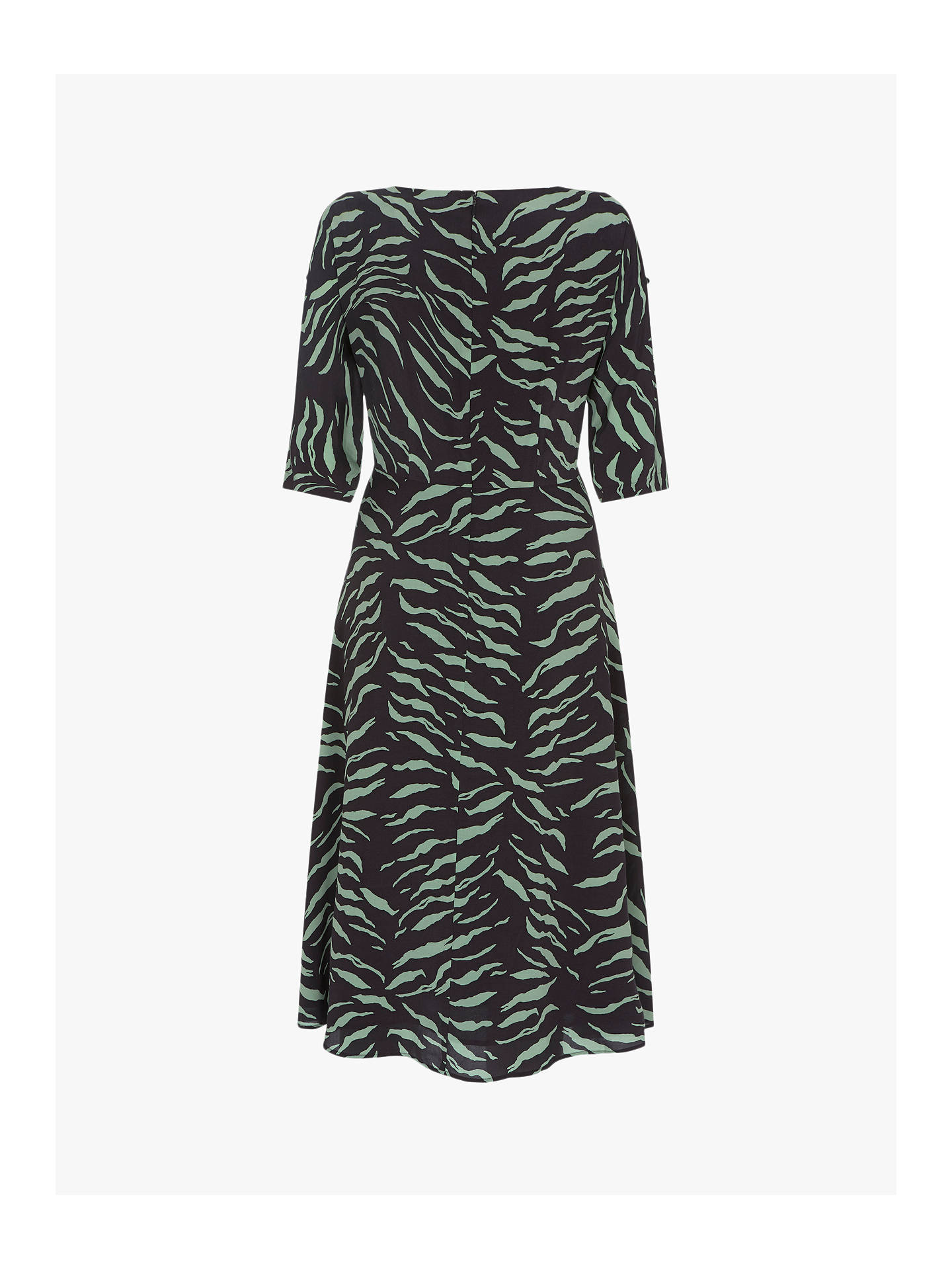 100% quality look out for top brands Mint Velvet Nadine Print Button Midi Dress, Green/Black at John ...