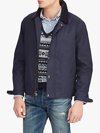 Polo Ralph Lauren Corduroy Collar Twill Jacket, Aviator Navy