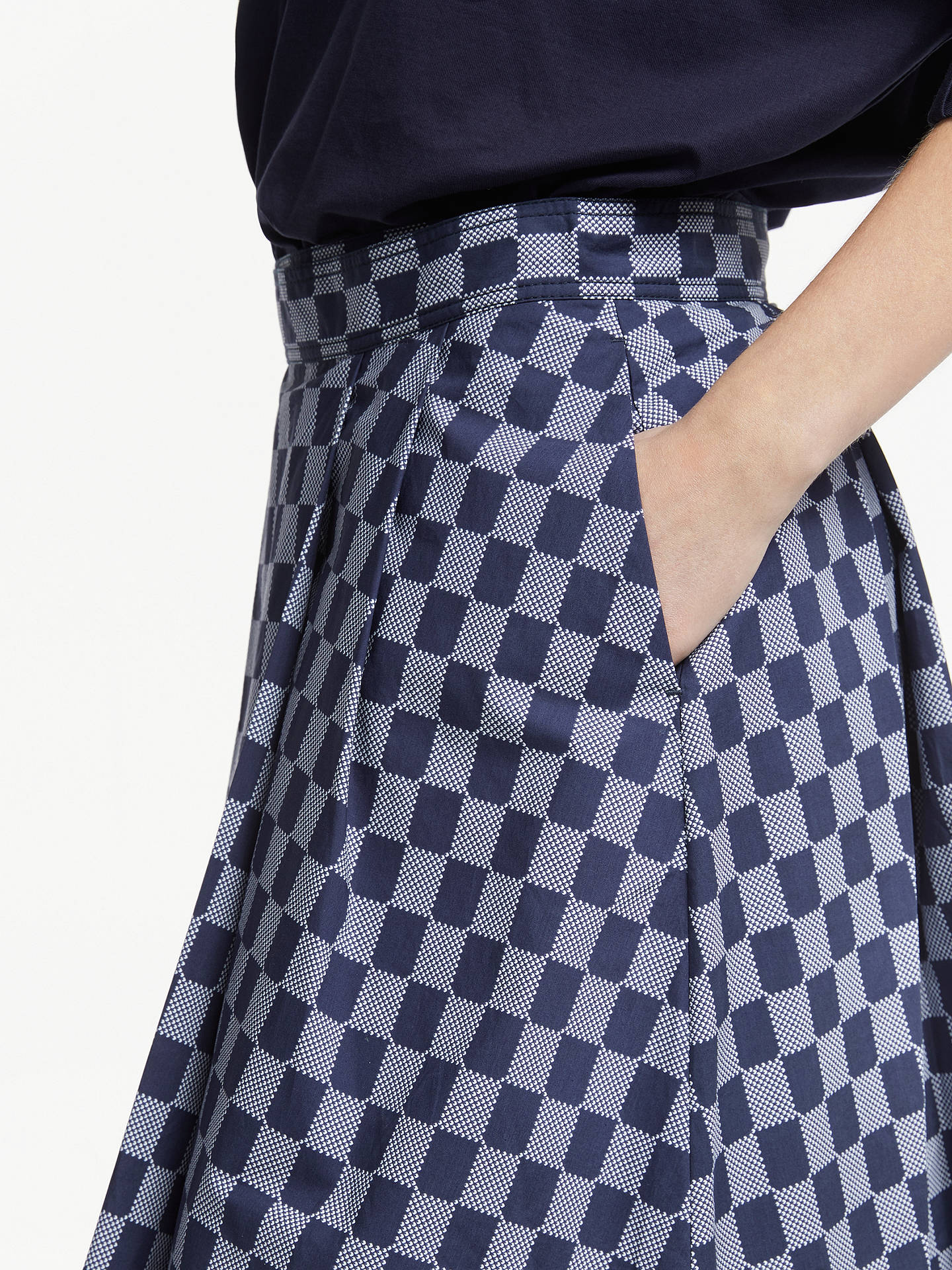 3d42267277 ... Buy Kin Seiji Printed Staggered Skirt, Blue, 8 Online at johnlewis.com  ...