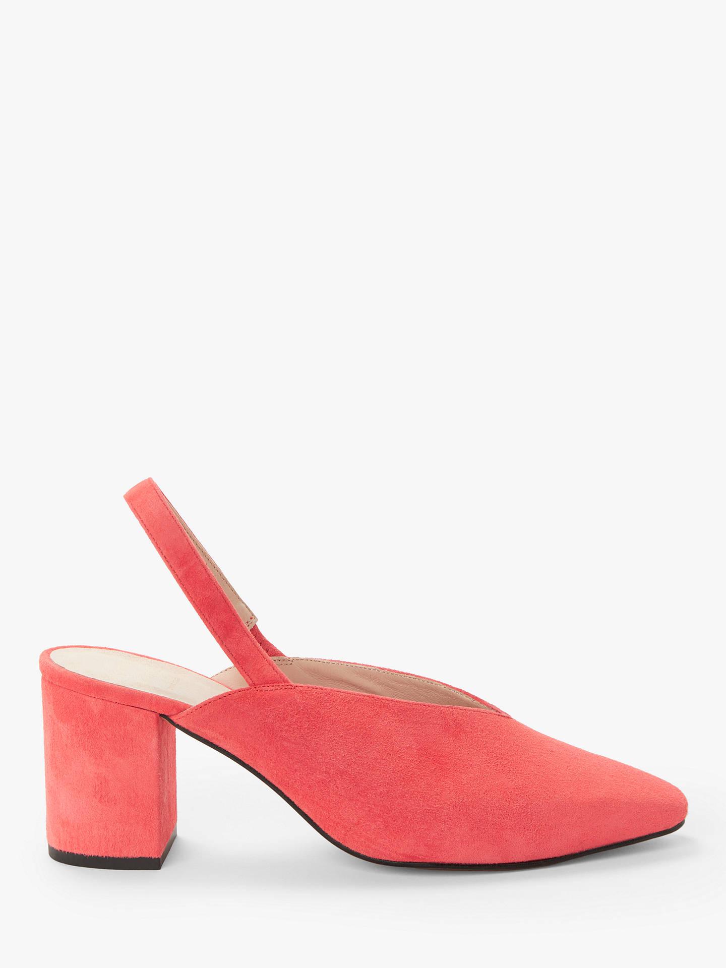 35393d31d96 John Lewis & Partners Jody Block Heel V Cut Slingback Court Shoes, Red Suede