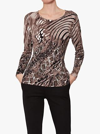Gina Bacconi Liana Diamante Snake Jumper, Brown