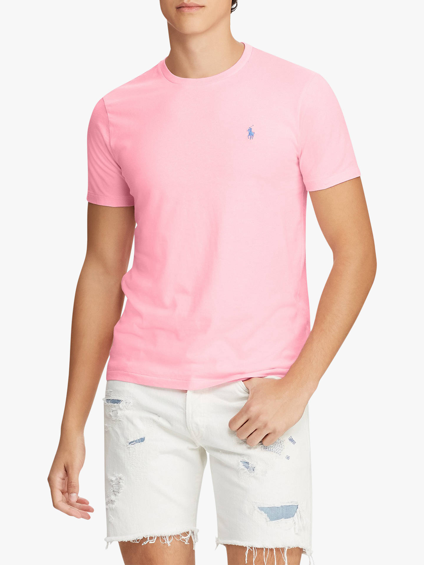 07c5a49cf Polo Ralph Lauren Custom Slim Fit Pocket T-Shirt at John Lewis ...