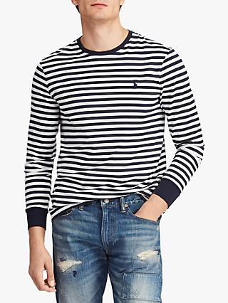 8dbe73c7d Polo Ralph Lauren Custom Slim Fit Long Sleeve Striped T-Shirt
