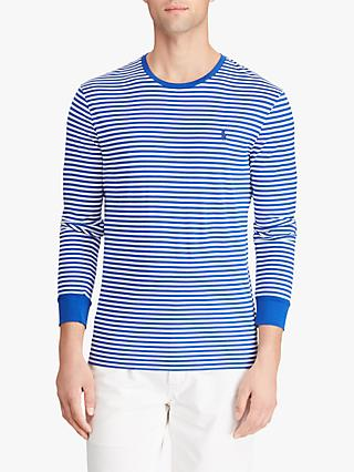 Polo Ralph Lauren Custom Slim Fit Long Sleeve Striped T-Shirt