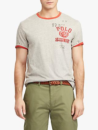 Polo Ralph Lauren Custom Slim Fit Reversible T-Shirt, Loft Heather/Brick