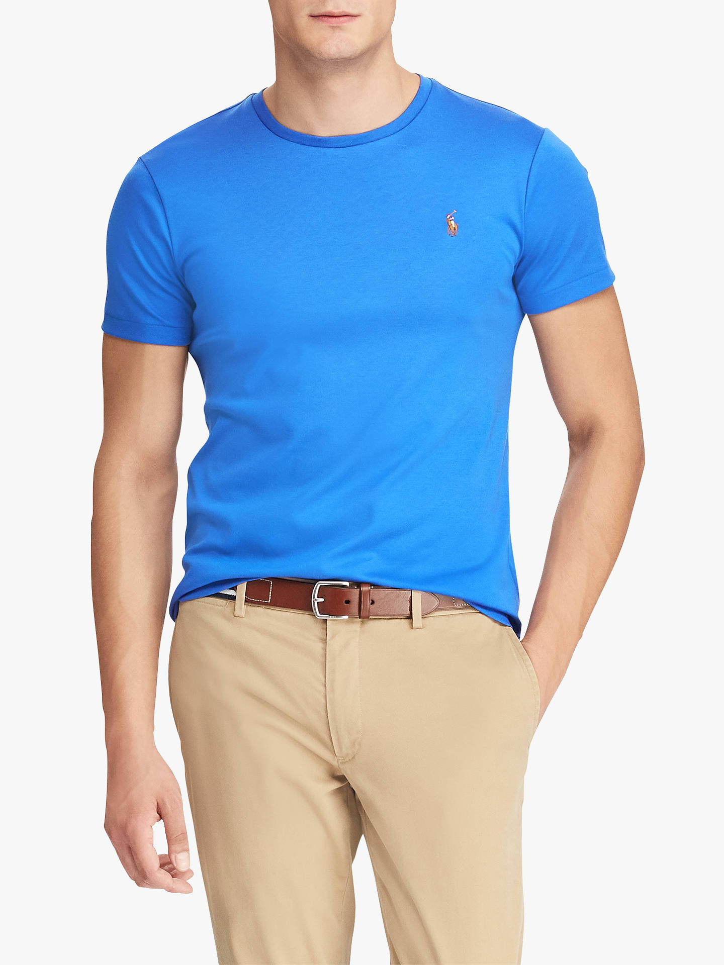 d42ed2056 Polo Ralph Lauren Custom Slim Fit T-Shirt at John Lewis   Partners