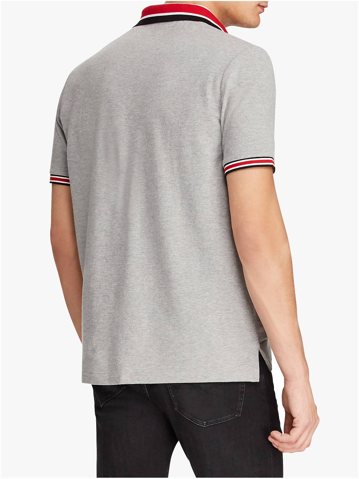 BuyPolo Ralph Lauren Short Sleeve Tipped Polo Shirt, Andover Heather, XXL Online at johnlewis.com