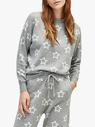 Warehouse Star Jumper, Light Grey