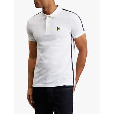 Lyle & Scott Short Sleeve Side Stripe Polo Shirt