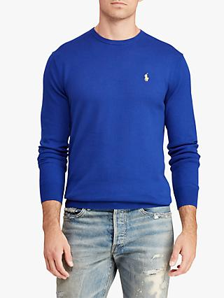 Polo Ralph Lauren Slim Fit Crew Neck Jumper, Heritage Royal
