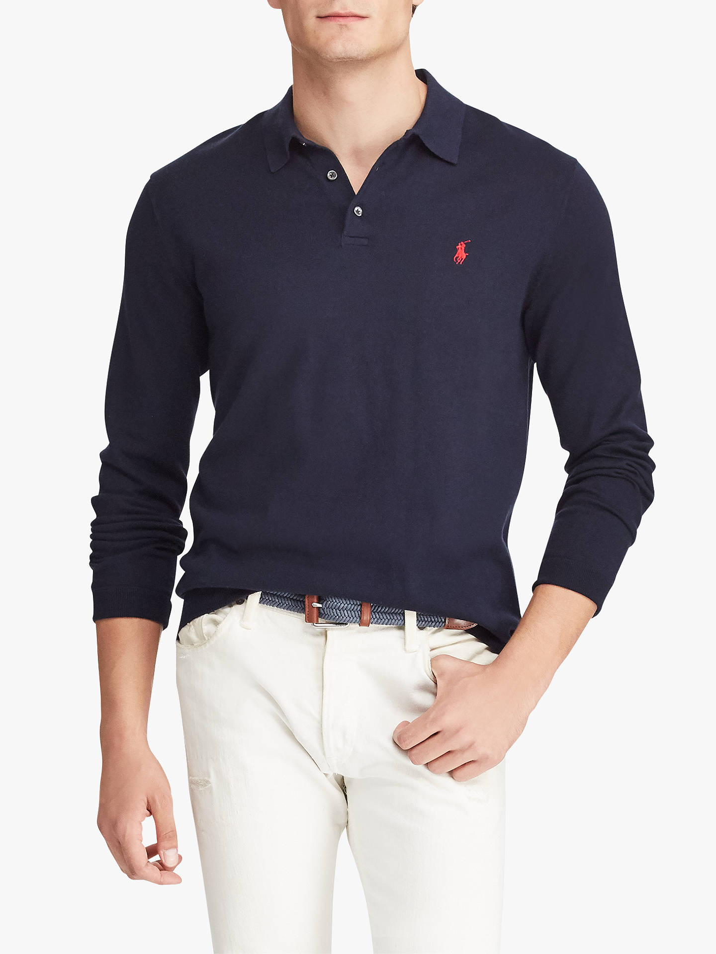 5eafb0269 Polo Ralph Lauren Long Sleeve Knitted Polo Shirt at John Lewis ...