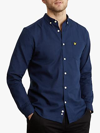 Lyle   Scott Long Sleeve Cotton Linen Shirt feaa7f3ad