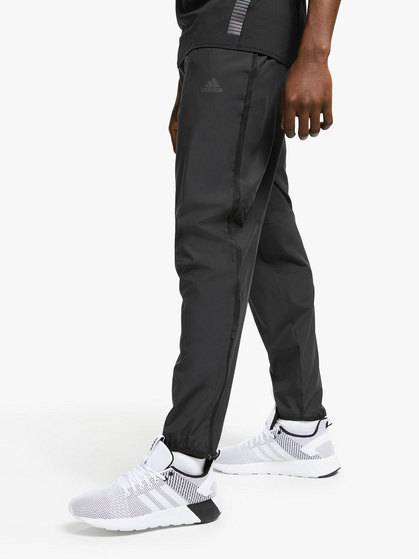 Buy adidas Own The Run Astro Wind Tracksuit Bottoms, Black, XL Online at johnlewis.com