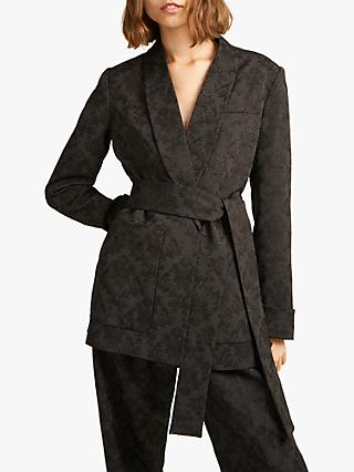 French Connection Jane Jacquard Suit Jacket, Black