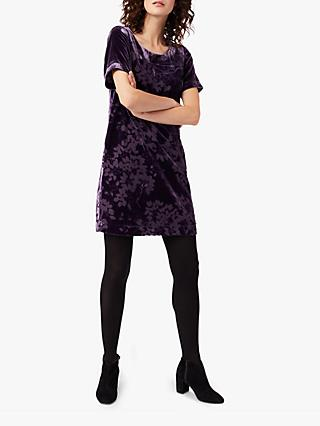 White Stuff Pegasi Velvet Dress, Sugared Purple