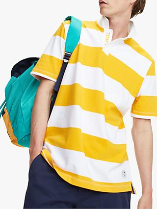 83e03bb8276 Tommy Jeans Stripe Block Stripe Rugby Shirt, Yellow/White