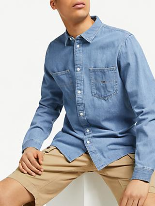 4035758142dd Tommy Jeans Long Sleeve Oversized Denim Shirt