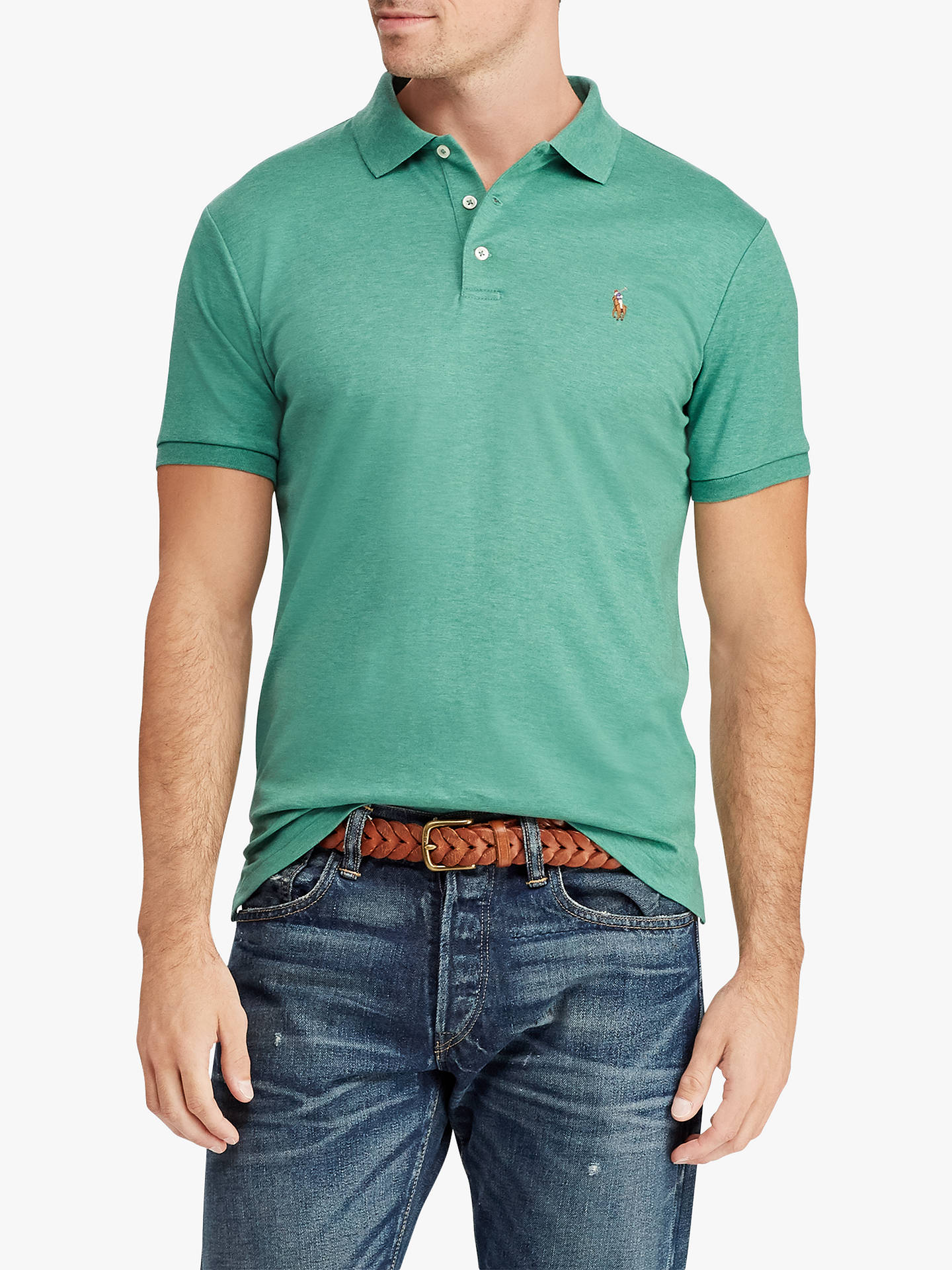 dcbeac87b917e Polo Ralph Lauren Custom Slim Soft Touch Polo Shirt at John Lewis ...