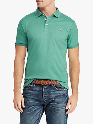 Polo Ralph Lauren Custom Slim Soft Touch Polo Shirt, Green Heather