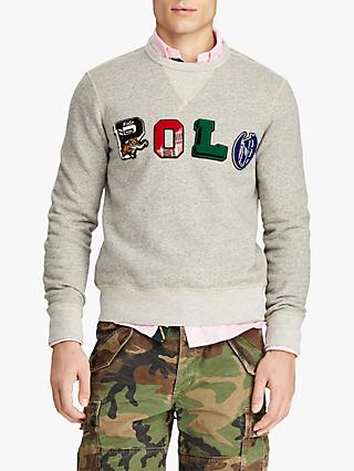 Polo Ralph Lauren Polo Graphic Fleece Sweatshirt, Loft Heather