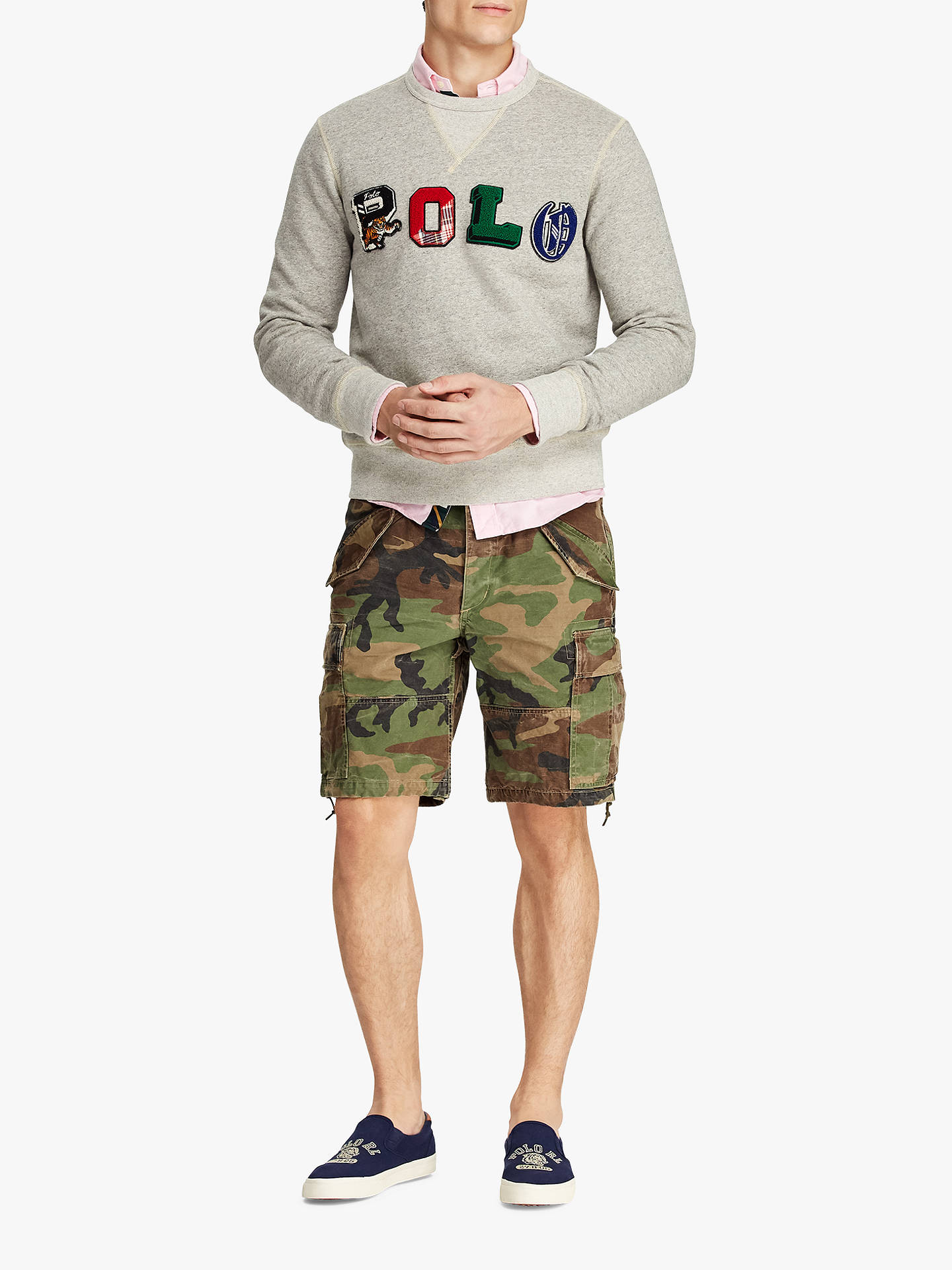 Buy Polo Ralph Lauren Polo Graphic Fleece Sweatshirt, Loft Heather, M Online at johnlewis.com