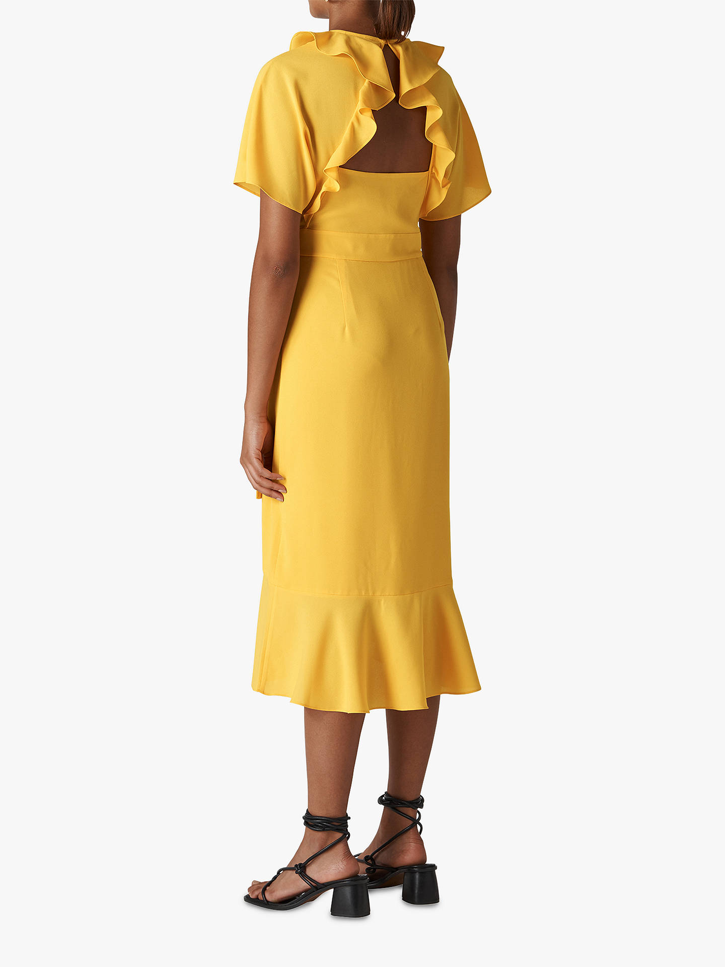 f4fc09863e ... Buy Whistles Abigail Frill Wrap Dress, Yellow, 8 Online at  johnlewis.com ...