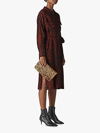 347952964d69a Whistles Jungle Leopard Print Utility Shirt Dress