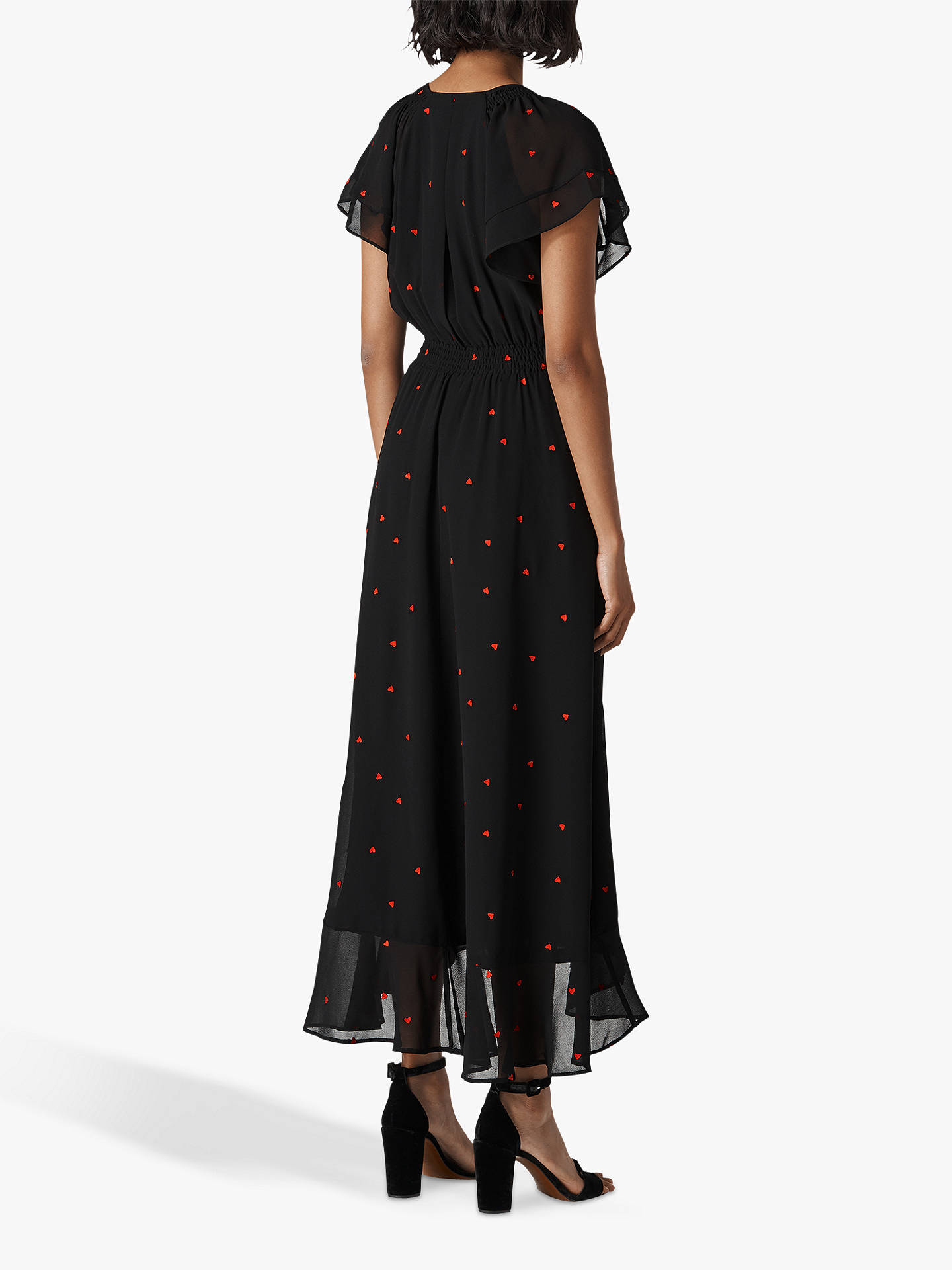 32977fbd ... Buy Whistles Heart Embroidered Maxi Dress, Black, 6 Online at  johnlewis.com ...