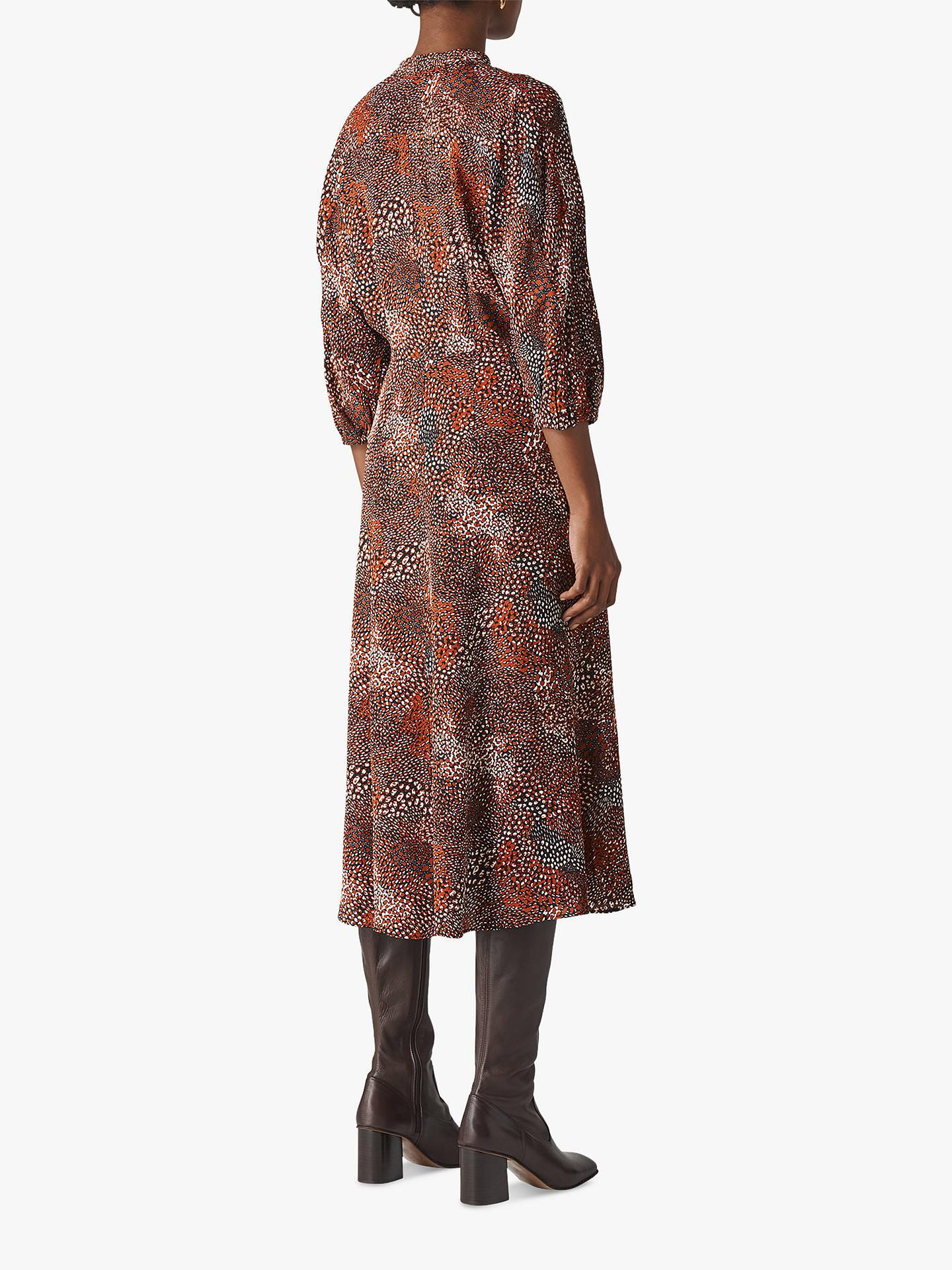 2f458c40bda2 ... Buy Whistles Abstract Animal Print Midi Dress