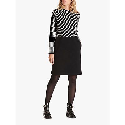 Betty & Co. Striped Jersey Dress, Black/White
