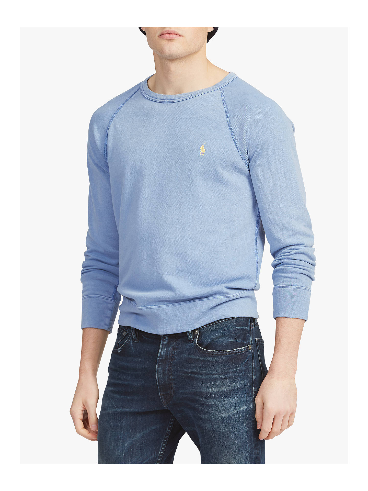 f9306540 Polo Ralph Lauren Cotton Spa Terry Sweatshirt, Isle Blue