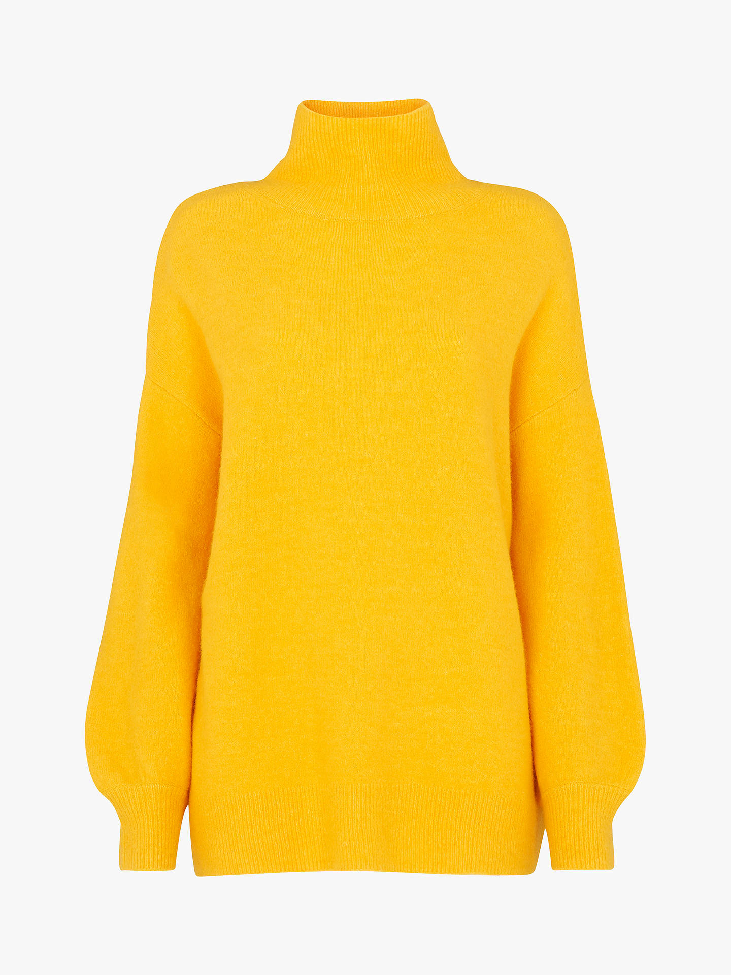 Yellow Bright Knit Roll Neck