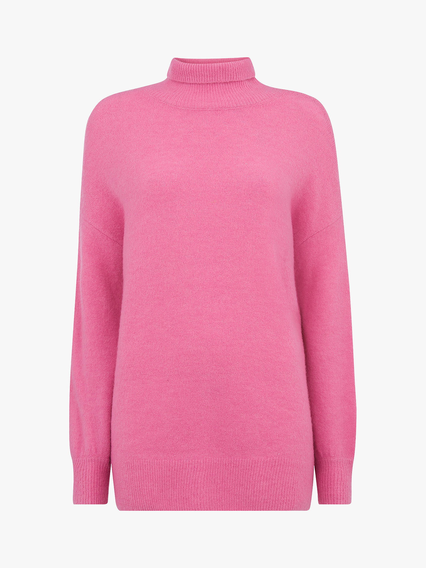 BuyWhistles Funnel Neck Oversized Jumper, Pink, M Online at johnlewis.com