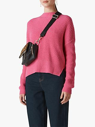 Whistles Ribbed Oversized Sweater, Pink