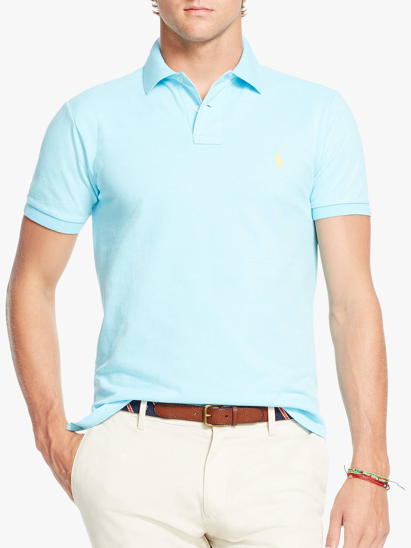Ralph Lauren Polo Classic Fit Mesh Polo Shirt Teal-Beige-Blue Lot of 3 Sz XXL