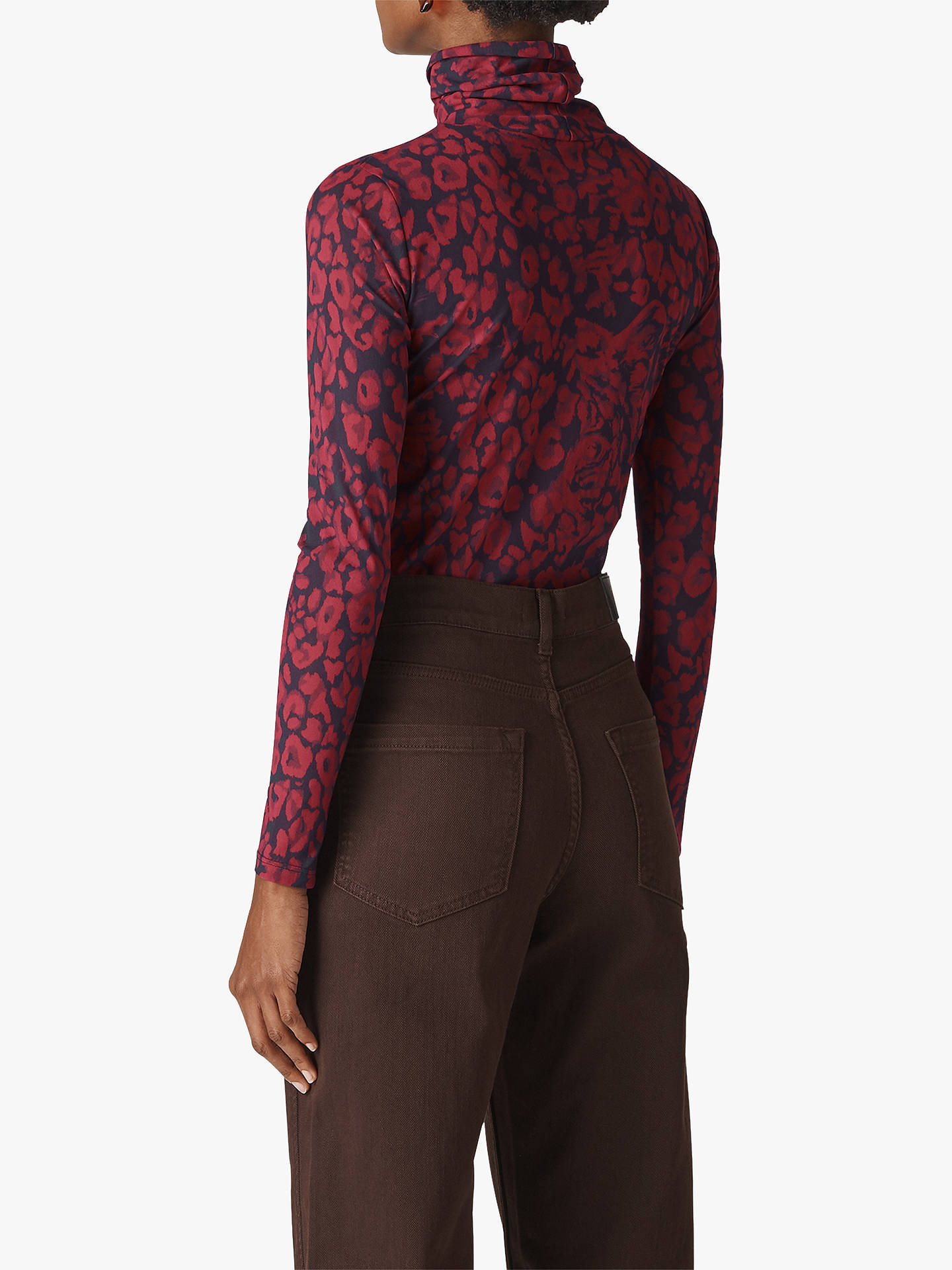 BuyWhistles Jungle Cat Mesh Top, Red/Multi, 10 Online at johnlewis.com
