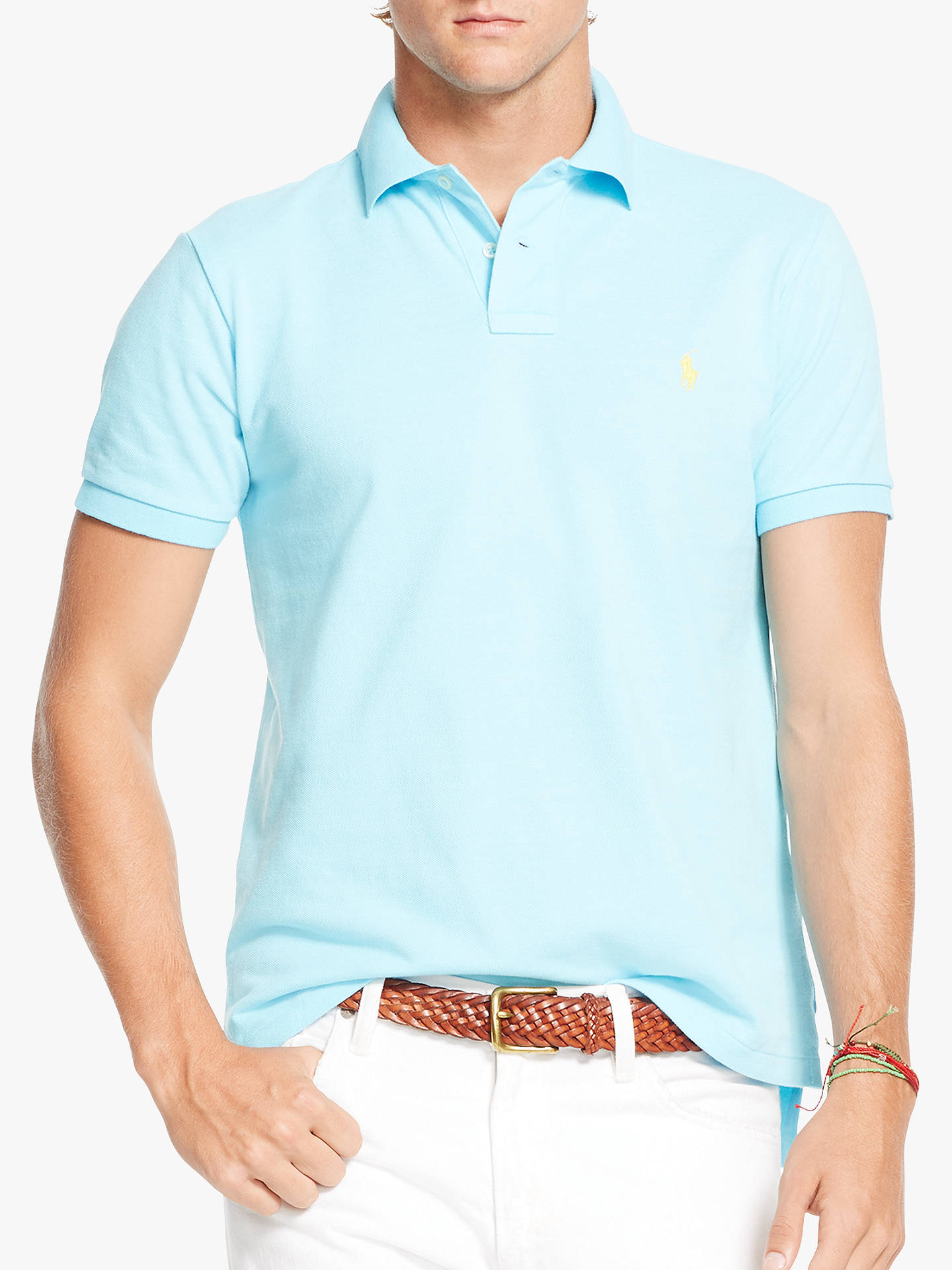 e13f6e8a8d5a1 Polo Ralph Lauren Short Sleeve Custom Slim Fit Mesh Polo Shirt at ...
