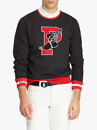 Polo Ralph Lauren P-Wing Graphic Sweatshirt, Black/Multi