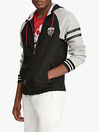 Polo Ralph Lauren Logo Hoodie, Black/Heather