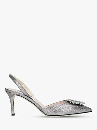 SJP by Sarah Jessica Parker Mabel Slingback Court Shoes, Metallic