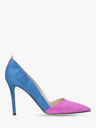 Buy SJP by Sarah Jessica Parker Rampling Stiletto Heel Court Shoes, Blue/Pink Suede, 5.5 Online at johnlewis.com