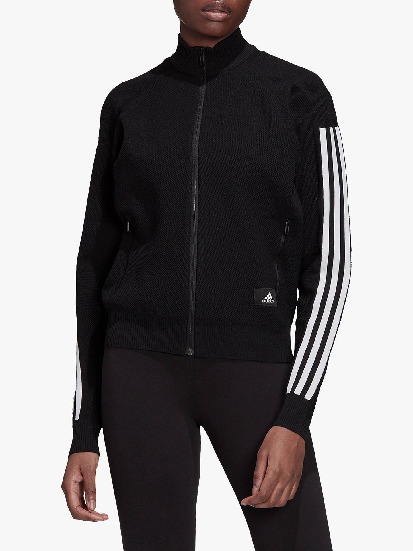 8de272d3 Buy adidas ID Knit Track Top, Black, XS Online at johnlewis.com ...